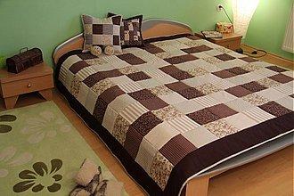Úžitkový textil - patchwork deka 140x200 alebo 220x220 a vankúš za super cenu (prehoz 200 x 200 cm) - 3715185