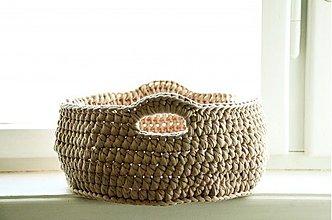 Košíky - Bielá kávička menšia - 3719733