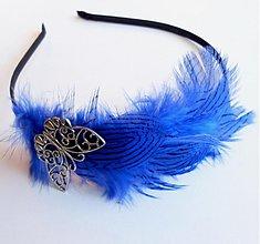 Ozdoby do vlasov - Kráľovská modrá - 3719876