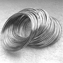 Suroviny - Pamäťový drôt-platina-100 ot. (55mm) - 3720937