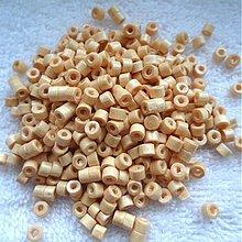 Korálky - Drevený valček 3x4mm-10g (ceder) - 3721517