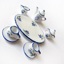 Polotovary - Dolly Porcelain (/ WhiteBlue Grapewine) - 3723973