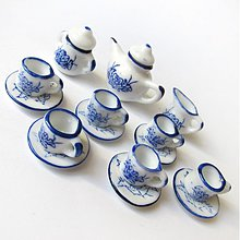 Polotovary - Dolly Porcelain (/ WhiteBlue ChineseBamboo) - 3723993