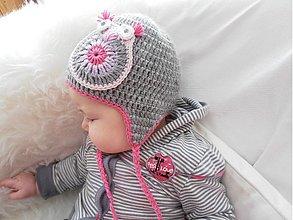 Detské čiapky - Prechodná čiapočka - sovička - 3724147