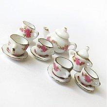 Polotovary - Dolly Porcelain (/ WhiteGold Flowers) - 3724156