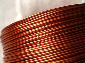 Suroviny - hliníkový drôt 2mm MEDENÝ - 3725985