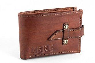Tašky - Kožená peněženka se zapínáním č.2 - 3726254