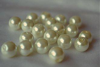 Korálky - Perly sklenené maslové, 8mm, 0,35€/10ks - 3728682