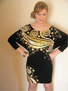 Šaty - Smotanovo-zlaté špirálky... - 3729161
