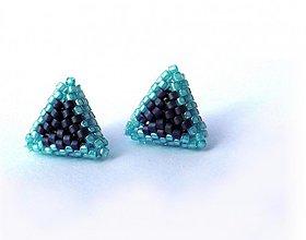 Náušnice - Ľadové trojuholníčky - 3729827
