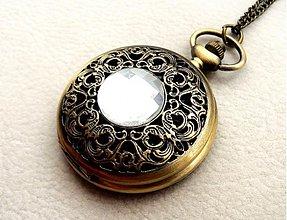 Náhrdelníky - kryštálové hodinky - 3734179