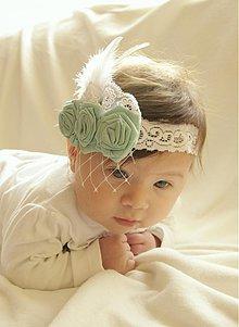 Ozdoby do vlasov - Detská čelenka s modrými kvietkami - 3734331