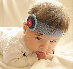 Ozdoby do vlasov - Detská čelenka modrá - 3734798