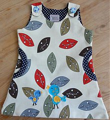 Detské oblečenie - Cute and amazing girl dress with handmade birds appliques - 3735105