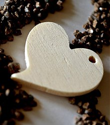 Polotovary - drevený výsek - srdce asymetrické 5x5 cm - 3735439