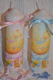 Svietidlá a sviečky - Chlapček či dievčatko - 3735561