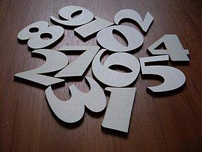 Polotovary - Drevené číslice - vyrezávané - 3736594
