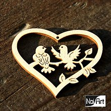 Dekorácie - Srdiečko vtáčiky - 374611