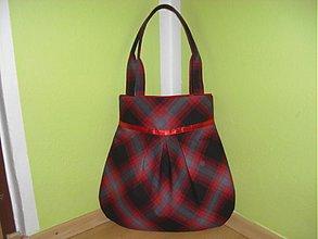 Veľké tašky - Čierno-červené kocky - 374874