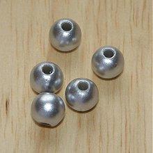 Korálky - 0373 Syntetický korálik strieborný 8 mm, 10 ks - 376037