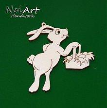Dekorácie - Zajac s košíkom - 381583