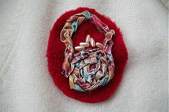 Odznaky/Brošne - Košík s perličkami - brošňa - 386232