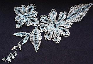 Iné šperky - Ľadové kvety (aplikácia na šaty) - 397505