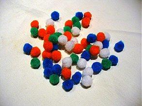Iný materiál - brmbolček malý mix 30ks - 397885