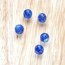 Korálky - 0389 Plastové guľky - modré, 10 mm, 1 ks - 398210