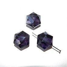 Korálky - 0400 Brúsený sklenený šesťuholník 21x18 mm, tmavofialový, 1 ks - 402105