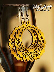 Náušnice - Kvetinkový kruh žltý - 402681