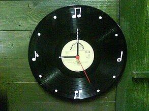 Hodiny - Retro hodiny -notové- - 408035