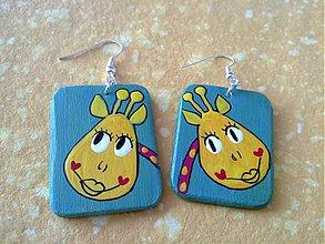 Náušnice - náušničky žirafky - 430762