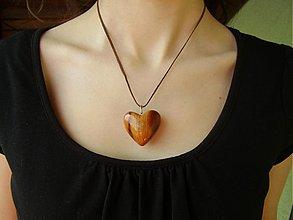 Náhrdelníky - Srdce drevene - 432586