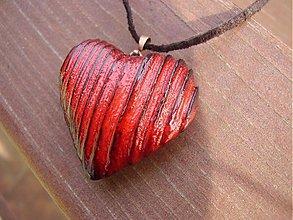 Náhrdelníky - Srdce drevene - 432594