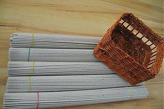 Materiál ručne robený - RULIČKY papierové BIELE  - 438273