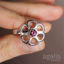 Prstene - Prsteň kvet so swarovski - 439142