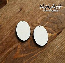 Materiál ručne robený - Základ na náušnice alebo prívesok 5x3 - 446718