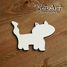 Materiál ručne robený - Mačička - predloha na ďalšiu tvorbu - 446862