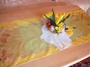 Úžitkový textil - hodvábny obrus motýliky - 449617
