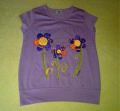 Tričká - tričko kvetinky - 462382