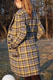 Kabáty - Sivé káro -% - 463978