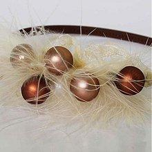 Ozdoby do vlasov - Čelenka guličková hnedá - 467603