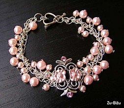 Náramky - Jemný ružový náramok - 477616