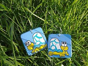 Náušnice - náušničky korytnačky - 478259