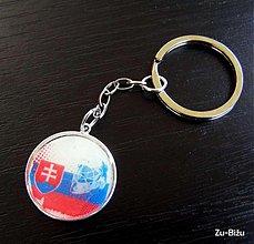 Kľúčenky - Slovenska vlajka s prilbou - 478915