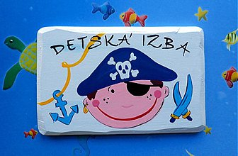 Tabuľky - tabulka na dvere pre malých pirátikov :) - 47932