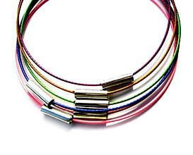 Komponenty - Mix náramkov - pamäťový drôt s mag.zapínaním - 6 ks - 492633