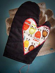 Úžitkový textil - chňapka sovičky - 492918