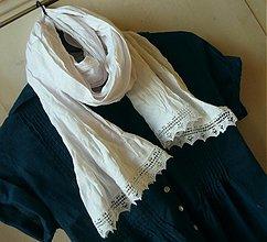 Šály - biely romantik Lucka:) - 499566